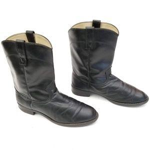 Double H Shoes - HH Black 6850 Cowboy Boots - Size 10.5 EE Wide